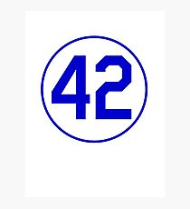 42 JACKIE RETIRED NUMBER SHIRT BROOKLYN LOS ANGELES Photographic Print