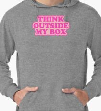 Think Outside My Box Feminist Typography Lightweight Hoodie