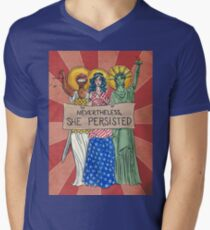 Nevertheless, She Persisted Men's V-Neck T-Shirt