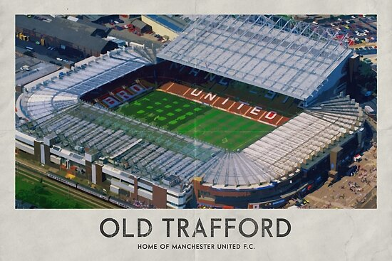 Quot Vintage Football Grounds Old Trafford Manchester
