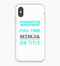 PRIVATE BANKER - JOB TITLE SHIRT AND HOODIE iPhone Case