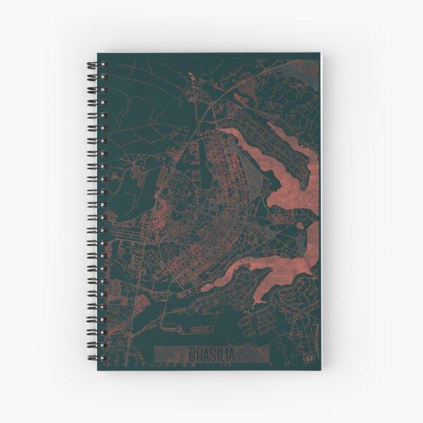 Brasilia Map Red Spiral Notebook