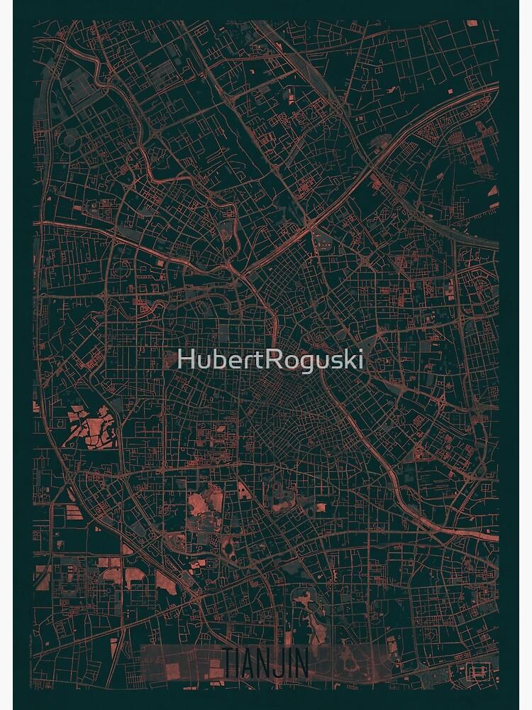 Tianjin Map Red by HubertRoguski