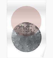 Erröten Geometrisch Poster