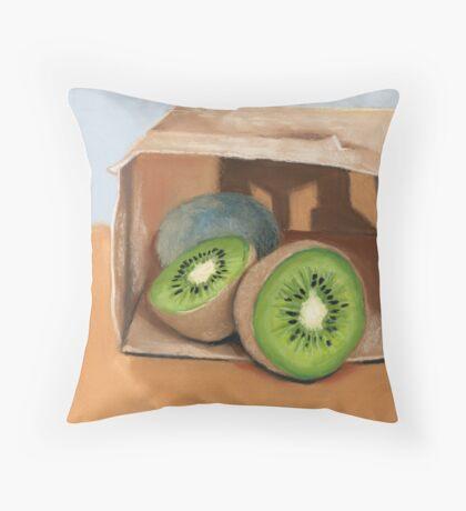 kiwi fruit Throw Pillow