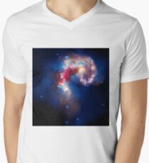 The Antennae Galaxies Men's V-Neck T-Shirt
