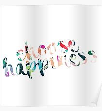 Choose Happiness Multicolor Poster