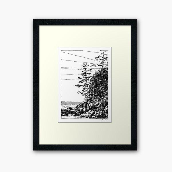 Crystal Cove, Vancouver Island, BC Canada Framed Art Print