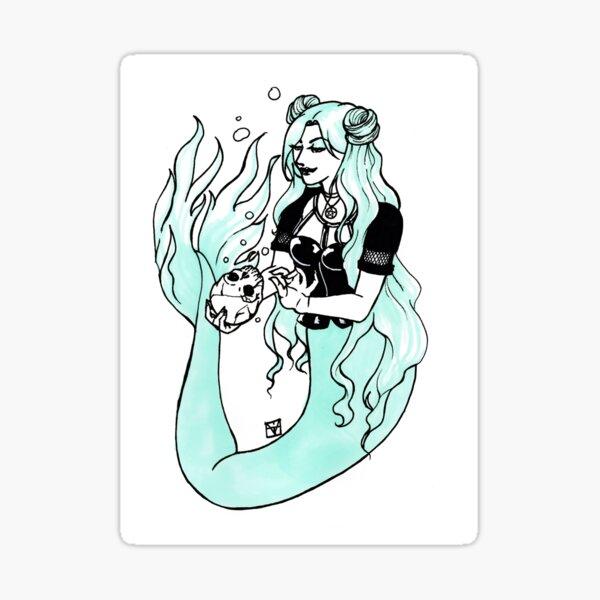 Goth Mermaid Sticker