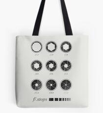 f/ stops Tote Bag