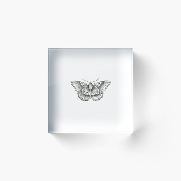 HS butterfly tattoo Acrylic Block