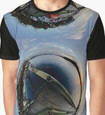 Foyle Marina at Dawn, Stereographic Graphic T-Shirt