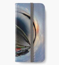Foyle Marina at Dawn, Stereographic iPhone Wallet/Case/Skin