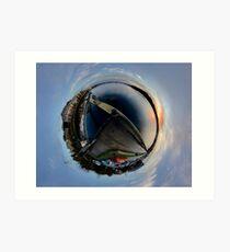 Foyle Marina at Dawn, Stereographic Art Print