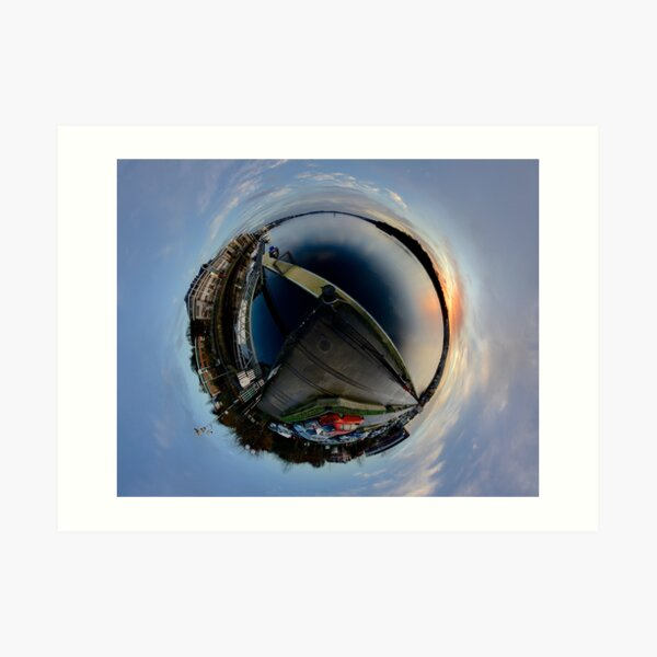Foyle Marina at Dawn, Stereographic Art Print