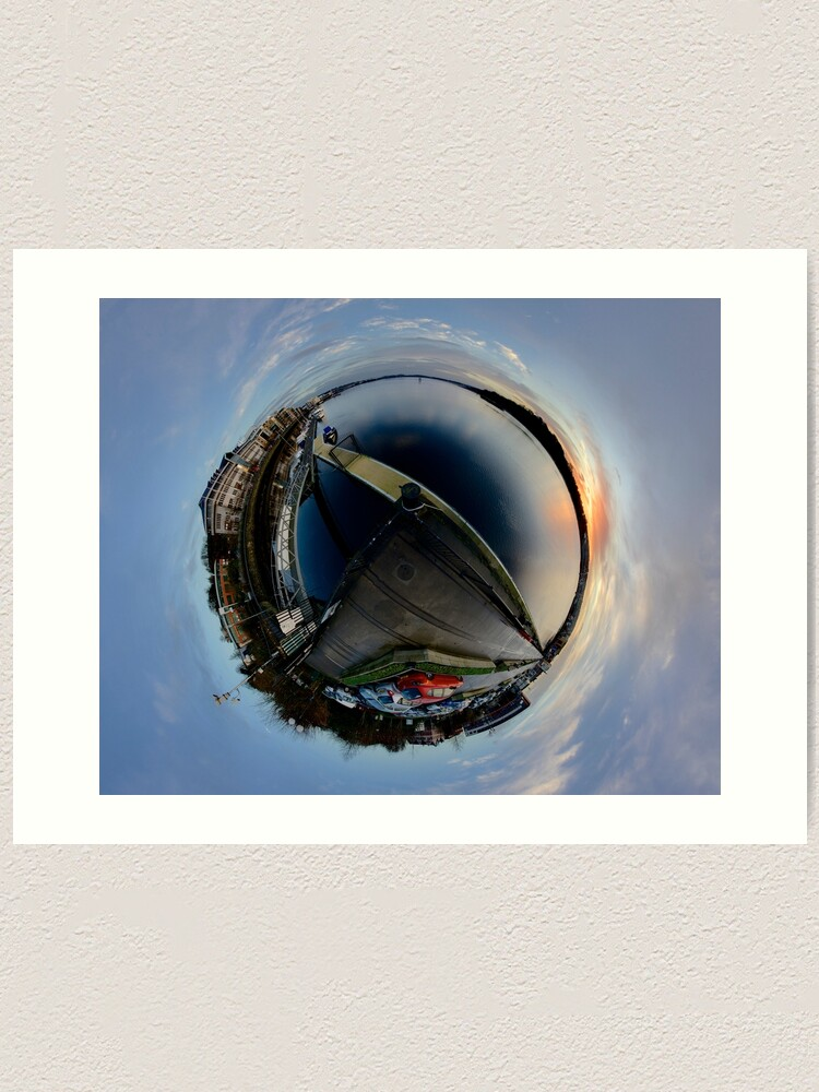 Alternate view of Foyle Marina at Dawn, Stereographic Art Print
