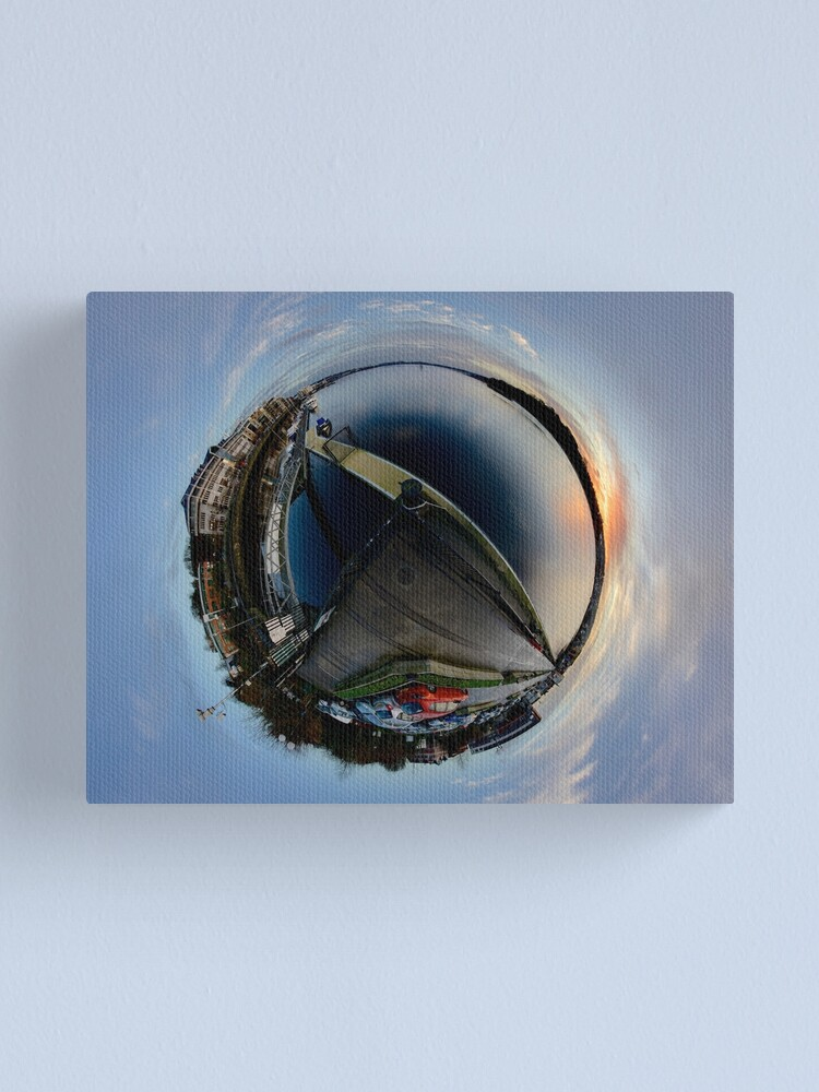 Alternate view of Foyle Marina at Dawn, Stereographic Canvas Print