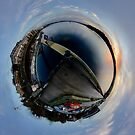 Foyle Marina at Dawn, Stereographic by George Row