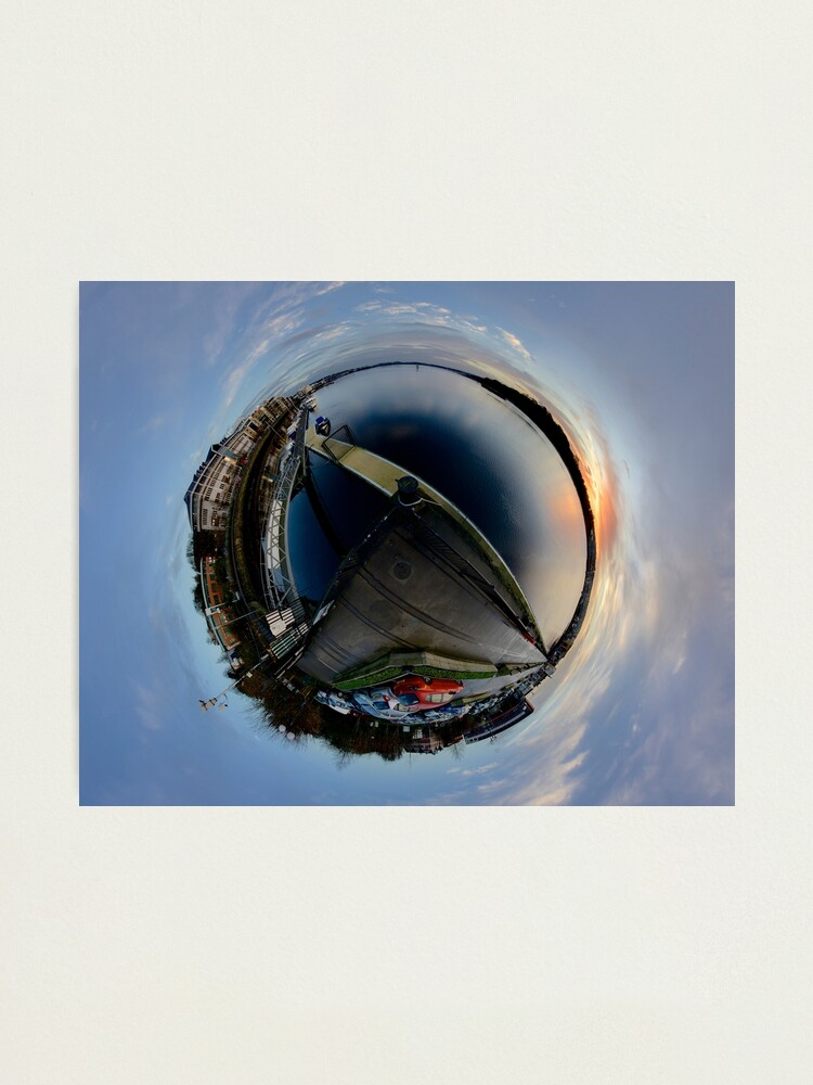 Alternate view of Foyle Marina at Dawn, Stereographic Photographic Print