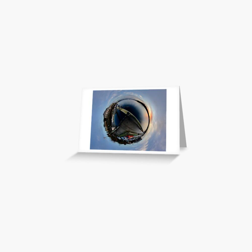Foyle Marina at Dawn, Stereographic Greeting Card