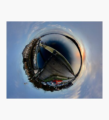 Foyle Marina at Dawn, Stereographic Photographic Print