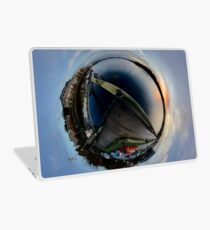 Foyle Marina at Dawn, Stereographic Laptop Skin