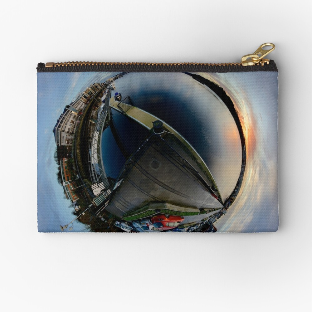 Foyle Marina at Dawn, Stereographic Zipper Pouch