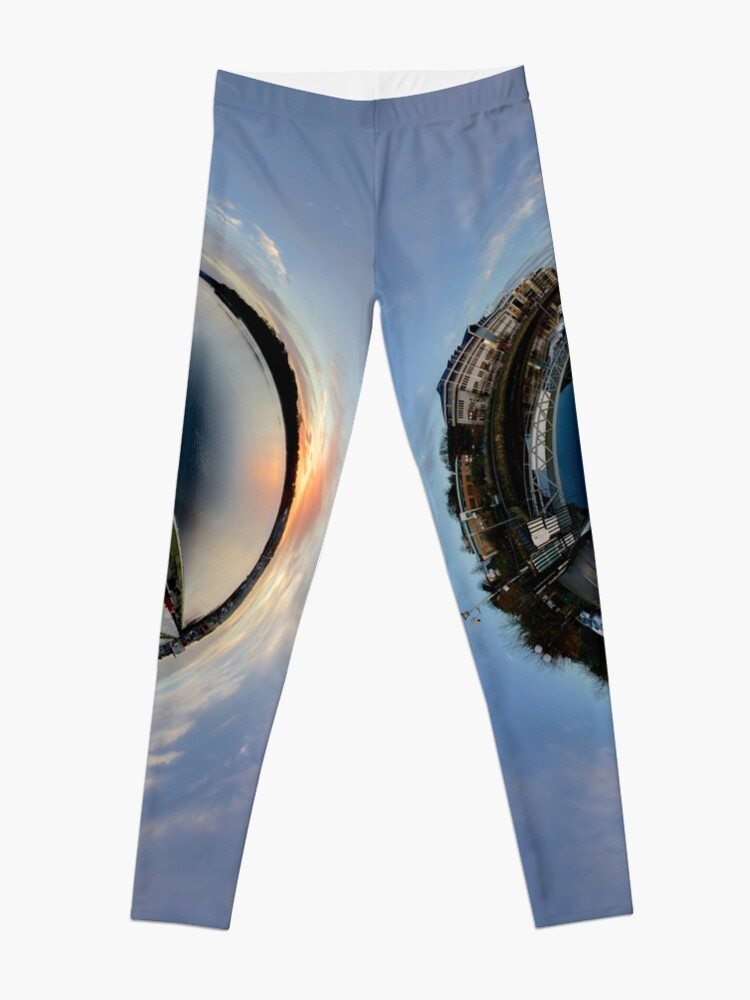 Alternate view of Foyle Marina at Dawn, Stereographic Leggings