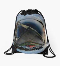 Foyle Marina at Dawn, Stereographic Drawstring Bag