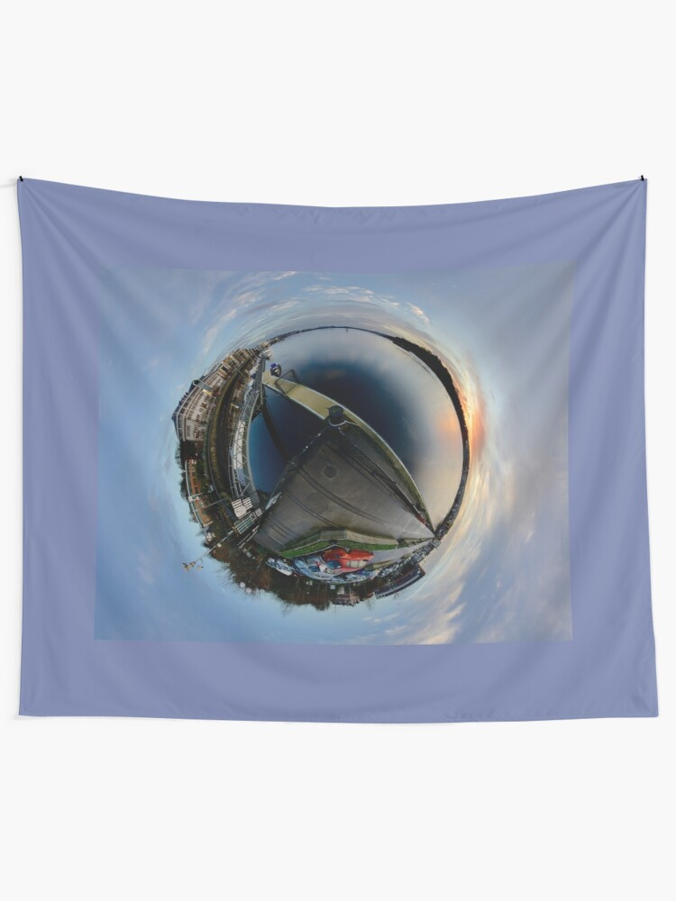 Alternate view of Foyle Marina at Dawn, Stereographic Tapestry