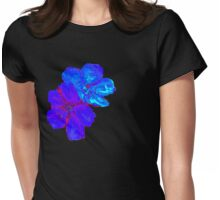 The Blue Tibouchina Womens Fitted T-Shirt