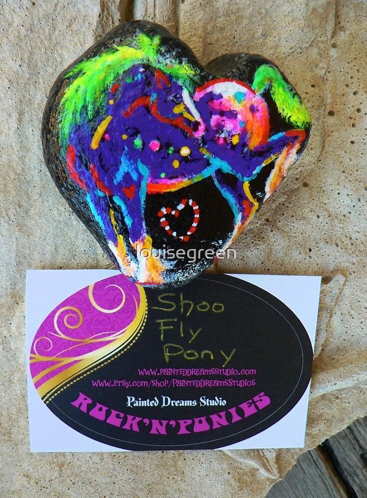 Rock'N'Ponies - SHOO FLY PONY Rock  by louisegreen