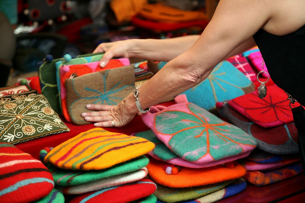 Hands and Tibeten Bags-NY by robertb