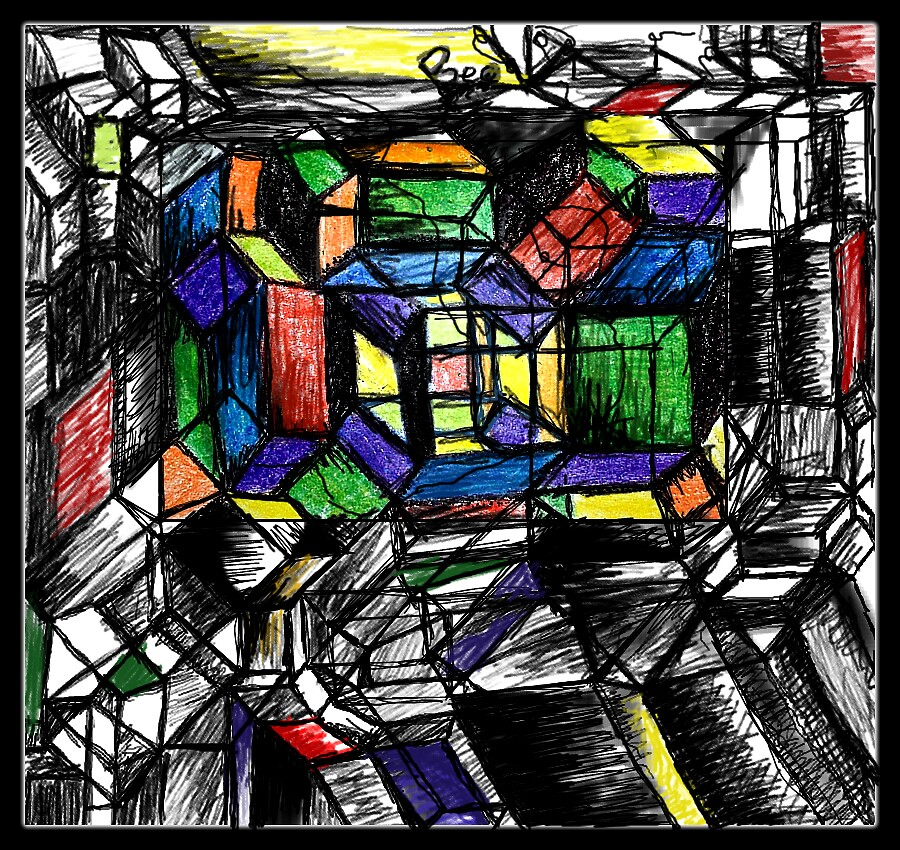 cubic work - hyper dimension  by Beo Lo