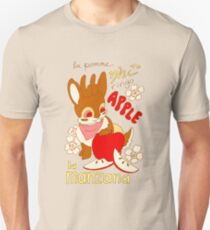 Jackalope and Apple Unisex T-Shirt