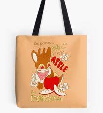 Jackalope and Apple Tote Bag