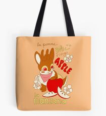 Jackalope and Apple Tote Bag