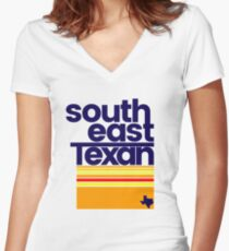 South East Texan Regional Shirt Funny Texas Southeast TX Women's Fitted V-Neck T-Shirt