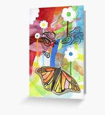 Butterfly landscape Greeting Card