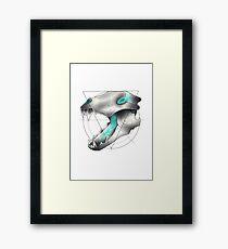 Neotraditional Wolf Skull Framed Print