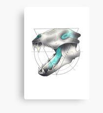 Neotraditional Wolf Skull Metal Print