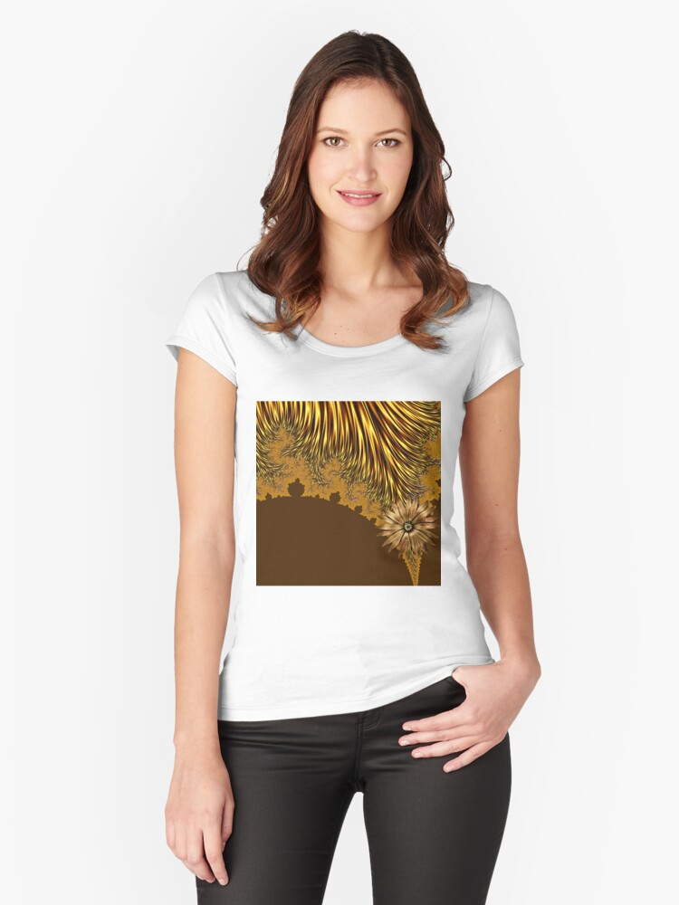 Elegant Tentacles Women's Fitted Scoop T-Shirt Front