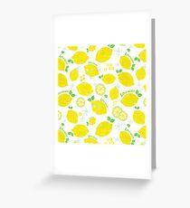 Fresh lemon yellow Greeting Card