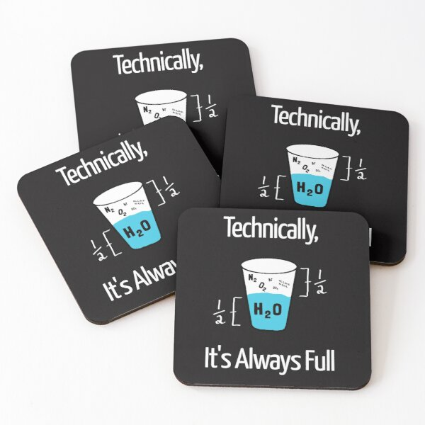 Funny Science Humor Coasters (Set of 4)