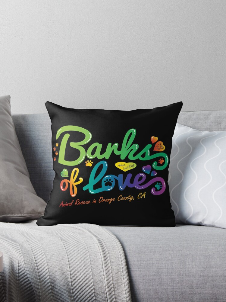 Merchandise - Barks of Love (Colors on Black) by Barks of Love Animal Rescue