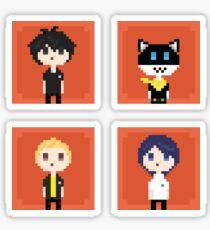 Persona 5 Pixel Art - Boys (white) Sticker