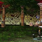Fairy Statue Landscape 04 by OFWDesigns