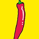 Spicy Red Hot Chili Pepper by theshirtshops