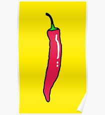 Spicy Red Hot Chili Pepper Poster