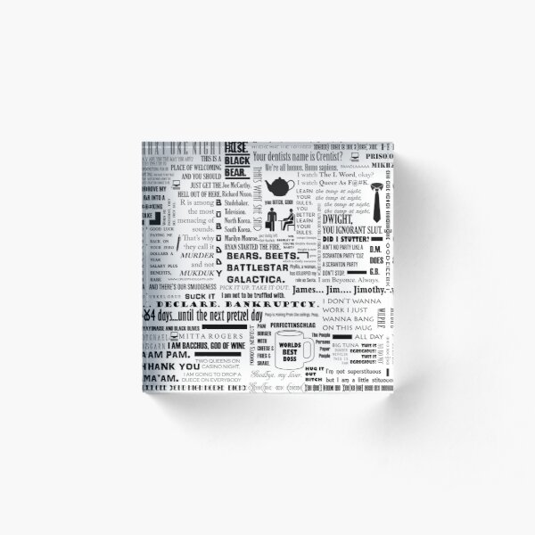 The Office Quotes Graphic Acrylic Block
